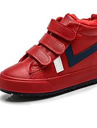 Недорогие -Мальчики Обувь Резина Осень Удобная обувь Кеды для Дети Белый / Черный / Красный