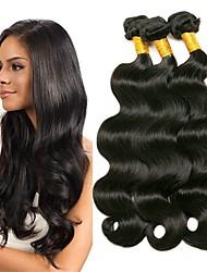 tanie -4 zestawy Włosy malezyjskie Body wave Włosy naturalne Akcesoria do peruk Fale w naturalnym kolorze Pielęgnacja włosów 8-28 in Kolor naturalny Ludzkie włosy wyplata Miękka Jedwabisty Gładki Ludzkich