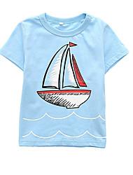 お買い得  -幼児 男の子 ベーシック 日常 ソリッド / 幾何学模様 半袖 レギュラー ポリエステル Tシャツ オレンジ
