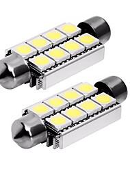 abordables -2pcs 42mm Automatique Ampoules électriques 1 W SMD 5050 80 lm 8 LED Phare arrière / Éclairage intérieur Pour Universel Universel Universel