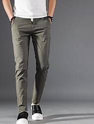 Недорогие -мужские хлопчатобумажные узкие брюки чинос - однотонные