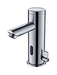 Недорогие -Смеситель - Датчик / Новый дизайн Электропокрытие Свободно стоящий Руки свободно одно отверстиеBath Taps
