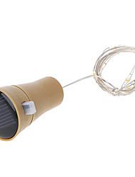 Недорогие -1m Гирлянды 10 светодиоды SMD 0603 Тёплый белый / Холодный белый Работает от солнечной энергии / Водонепроницаемый / Декоративная Солнечная энергия 1шт