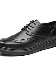 cheap -Men's Comfort Shoes Leather Fall Oxfords Black / Brown