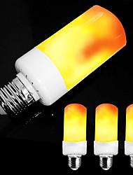 Недорогие -ZDM 4шт E26 E27 / E14 5 Вт Светодиодная лампа с эффектом пламени-4 режима с эффектом вверх дном ac85-265v