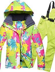 Недорогие -RIVIYELE Жен. Лыжная куртка и брюки С защитой от ветра Теплый Воздухопроницаемость Катание на лыжах Сноубординг Зимние виды спорта Полиэфир Джинса Наборы одежды Одежда для катания на лыжах / Зима