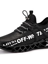hesapli -Erkek Ayakkabı Sentetikler İlkbahar & Kış Sportif / Günlük Atletik Ayakkabılar Koşu Atletik / Günlük için Siyah / Kırmzı