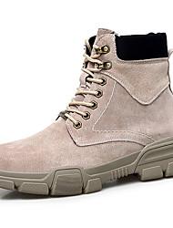 hesapli -Erkek Ayakkabı Süet Sonbahar Kış Sportif / Günlük Spor Ayakkabısı Günlük / Ofis ve Kariyer için Siyah / Bej / Gri