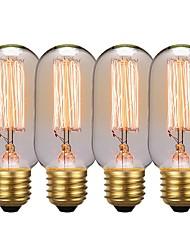 Недорогие -GMY® 4шт 40 W E26 / E27 T45 Янтарный 2200 k Ретро / Диммируемая / Декоративная Лампа накаливания Vintage Эдисон лампочка 220-240 V