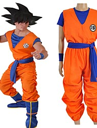 Недорогие -Вдохновлен Жемчуг дракона Son Goku Аниме Косплэй костюмы Японский Косплей Костюмы Буквы Неприменимо / Кофты / Брюки Назначение Универсальные / Пояс / лента / Пояс / лента
