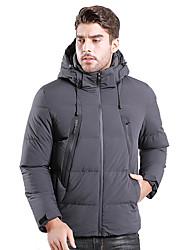 Недорогие -Муж. Мягкая пиджак на открытом воздухе Зима Сохраняет тепло С защитой от ветра Устойчивость к УФ Воздухопроницаемость Пуховики Верхняя часть Односторонняя