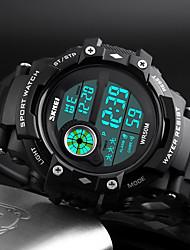 Недорогие -SKMEI Муж. электронные часы Цифровой Стеганная ПУ кожа Черный 50 m Защита от влаги Календарь Секундомер Цифровой На каждый день Мода - Черный / Хронометр / Фосфоресцирующий