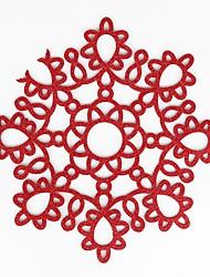 Недорогие -Современный 75 гр / м2 полиэфирная эластичная ткань Круглый Салфетки-подстилки Жаропрочная Настольные украшения