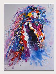 levne -Hang-malované olejomalba Ručně malované - Abstraktní Pop Art Moderní Bez vnitřní rám