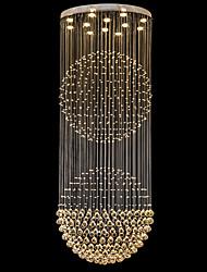 Недорогие -Люстры и лампы Потолочный светильник Электропокрытие Металл Хрусталь, LED 110-120Вольт / 220-240Вольт Теплый белый / Холодный белый Лампочки включены / GU10