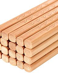 Недорогие -12 пар Бамбук Новый дизайн палочки для еды
