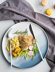 Недорогие -Цельный Обеденные тарелки Поднос Стеклянная посуда посуда Керамика Heatproof Новый дизайн Cool