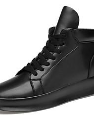 """Недорогие -Муж. Кожаные ботинки Кожа Наступила зима На каждый день / Стиль """"Школьная форма"""" Кеды Нескользкий Черный"""