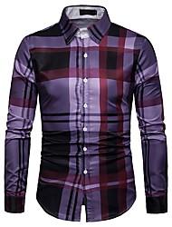 Недорогие -узкая мужская рубашка - геометрический воротник рубашки