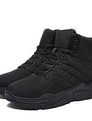 Недорогие -Муж. Печать Оксфорд Нейлон / Полиэстер Зима Классика / На каждый день Ботинки Для пешеходного туризма / Для прогулок Сохраняет тепло Ботинки Черный / Квадратный носок