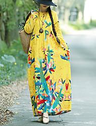 Недорогие -Жен. Классический Прямое Платье Ассиметричное
