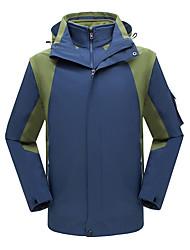 Недорогие -Муж. Куртка для туризма и прогулок на открытом воздухе Осень Весна Зима С защитой от ветра Дожденепроницаемый Воздухопроницаемость Устойчивость к УФ Чинлон Эластан Куртки 3-в-1 Верхняя часть