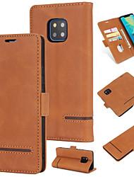 povoljno -Θήκη Za Huawei Huawei Mate 20 Pro Novčanik / Utor za kartice / Zaokret Stražnja maska Jednobojni Tvrdo PU koža za Huawei Mate 20 pro