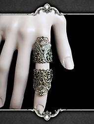 Недорогие -Vampire Dracula Цветочные Стиль Готика Скелет Регулируемое кольцо Назначение Для вечеринок Маскарад Муж. и жен. Бижутерия