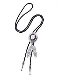 Недорогие -Муж. Классический Y Ожерелье длинное ожерелье В форме листа Классика Steampunk Cool Серебряный Античная бронза 95.5 cm Ожерелье Бижутерия 1шт Назначение Подарок Для улицы