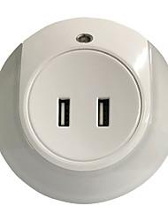 Недорогие -GoalStron 1шт LED Night Light DC Powered Двойной разъем USB / Безопасность / Управление освещением 220-240 V