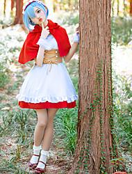Недорогие -Вдохновлен Re: Zero - Начало жизни в другом мире Куки-аниме Аниме Косплэй костюмы Косплей Костюмы Бант Без рукавов Платье / Носки / лук Назначение Жен.