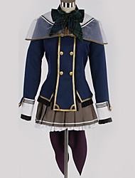 Недорогие -Вдохновлен Косплей Косплей Аниме Косплэй костюмы Японский Школьная форма Английский Косыночная повязка / Кофты / Юбки Назначение Муж. / Жен.