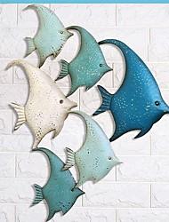 Недорогие -Пейзаж Декор стены Металл европейский Предметы искусства, Металлические украшения на стену Украшение