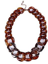 Недорогие -Жен. Простой / Мода ожерелья / Свитер ожерелье Контрастных цветов
