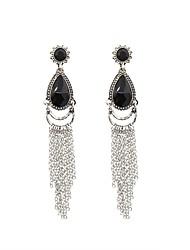 hesapli -Kadın's Püskül Damla Küpeler - Vintage Mücevher Siyah Uyumluluk Parti Balo / 1 çift
