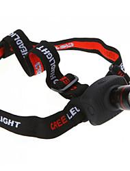 Недорогие -Налобные фонари Фары для велосипеда Светодиодная лампа Cree® XR-E Q5 1 излучатели 800 lm 3 Режим освещения Масштабируемые Походы / туризм / спелеология