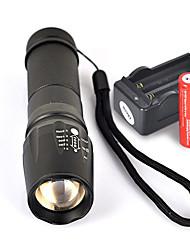 Недорогие -UltraFire W-878 Светодиодные фонари Светодиодная лампа Cree® XM-L T6 1 излучатели 1800 lm 5 Режим освещения с батарейками и зарядным устройством Нескользящий захват