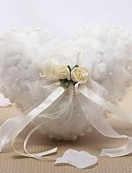 Недорогие -Сатин / тюль Искусственный жемчуг / Цветы Шелк Кольцо подушки колец Свадьба Все сезоны