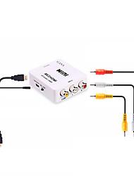 Недорогие -RCA Кабель-переходник, RCA к HDMI 1.4 Кабель-переходник Female - Female 1080P Короткий (менее 20 см)