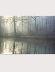 Недорогие -С картинкой Отпечатки на холсте - Пейзаж Фото Modern Репродукции