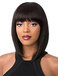 Недорогие -человеческие волосы Remy Лента спереди Парик Стрижка боб стиль Бразильские волосы Вытянутые Нейтральный Парик 130% 150% 180% Плотность волос
