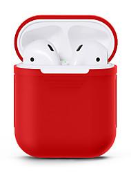 Недорогие -Чехол для наушников Полный силикон для тела Черный / Красный / Розовый 1 pcs