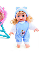 baratos -Bonecas Reborn Bebês Meninas 16 polegada Silicone - Smart realista Crianças / Adolescente de Criança Unisexo Brinquedos Dom
