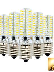 hesapli -5pcs 4 W 300-400 lm E17 LED Mısır Işıklar T 80 LED Boncuklar SMD 4014 Çok güzel Sıcak Beyaz / Serin Beyaz 110-130 V