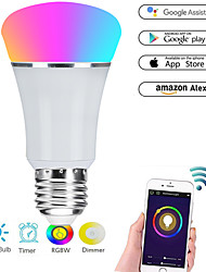 Недорогие -E27 7W светодиодные смарт-лампы Wi-Fi 22 светодиодные шарики SMD 5730 работает с Амазонкой Алекса / управление приложениями / Google Home rgbw 85-265v