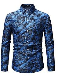 رخيصةأون -رجالي قميص طباعة هندسي