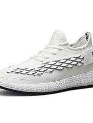 Недорогие -Муж. Комфортная обувь Трикотаж Весна Спортивная обувь Беговая обувь Дышащий Белый / Черный / Серый