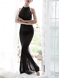 Недорогие -Жен. Супер секси Костюм Ночное белье - Открытая спина Однотонный