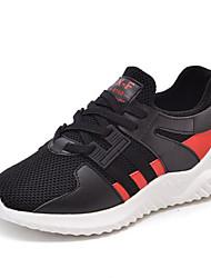 baratos -Para Meninos Sapatos Com Transparência / Couro Ecológico Primavera & Outono Conforto Tênis Cadarço para Infantil / Adolescente Branco / Preto / Vermelho