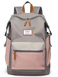 """Недорогие -V.NINE универсальный / 15 """"Ноутбук / iPad Рюкзаки Tactel Контрастных цветов Для женщин для колледжей и школ для путешествия Водостойкий"""